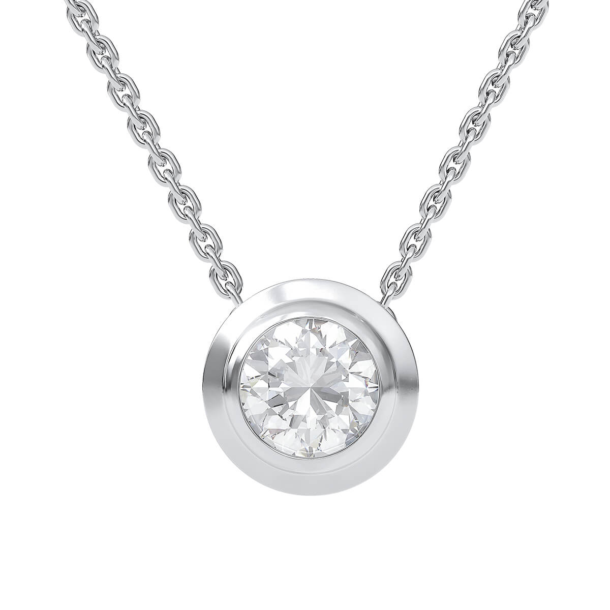 Necklace with diamond 0.50 ct