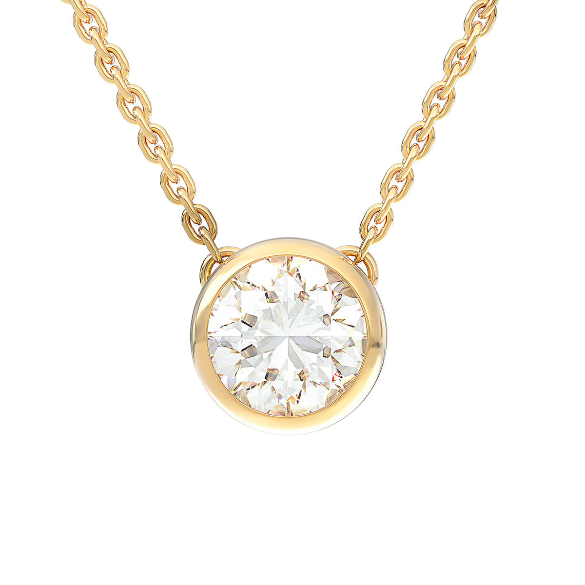 Necklace with diamond 1.00 ct