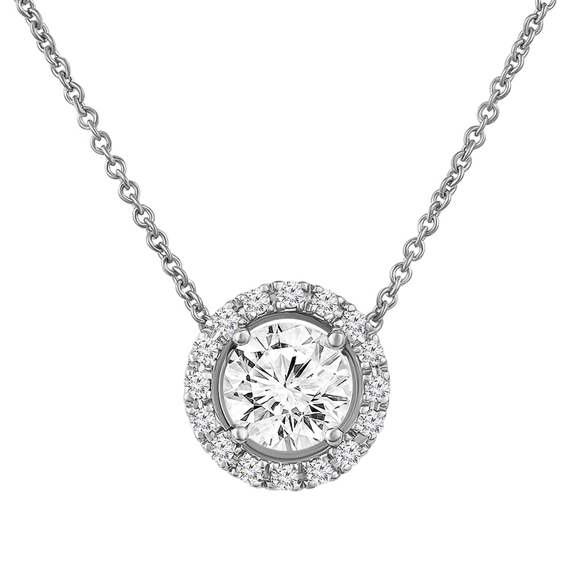 Necklace with diamond 0.72 ct